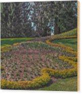 Peacock Garden Wood Print