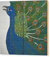 Peacock Iv Wood Print