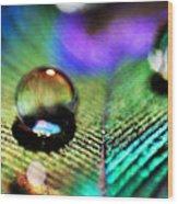 Peacock Jewel Wood Print by Kerry Langel