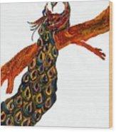 Peacock Xiii Wood Print