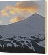 Peak 8 At Dusk - Breckenridge Colorado Wood Print by Brendan Reals