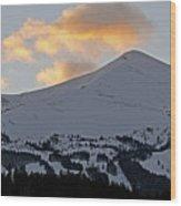 Peak 8 At Dusk - Breckenridge Colorado Wood Print