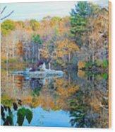 Peak Autumn Reflection 6 Wood Print