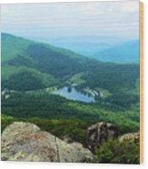 Peaks Of Otter Overlook Va Wood Print
