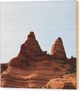 Peaks Of Sedona Wood Print