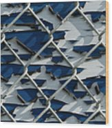 Pealing Paint Fence Abstract 1 Wood Print
