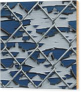Pealing Paint Fence Abstract 2 Wood Print