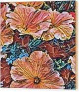 Peanies Flower Blossom Wood Print