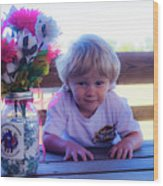 Peanut At 6th Anniversary Va Flaggers 4933 Wood Print
