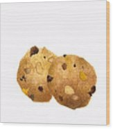 Peanut Butter Chocolate Chip Cookies Wood Print
