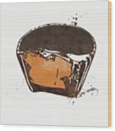 Peanut Butter Cup Wood Print