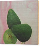Pear And Avocados Wood Print