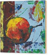 Pear And Sun Wood Print
