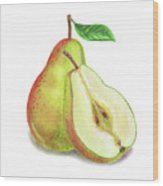Pear Bunch Wood Print