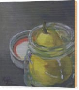 Pear Jam Wood Print