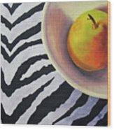 Pear On Zebra Wood Print