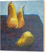 Pear Plus One Wood Print