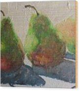 Pear Shadow Wood Print