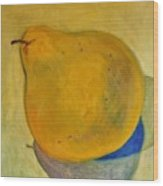 Pear Solo Two Wood Print