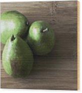 Pear Trio Muted Wood Print