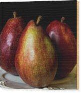 Pear Trio Still Life Wood Print