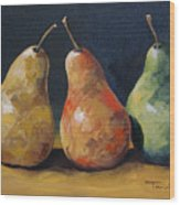 Pear Trio  Wood Print