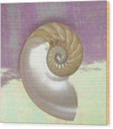Pearl Nautilus Shell Wood Print