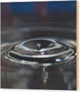 Pearl Water Drop - From Sink Wood Print
