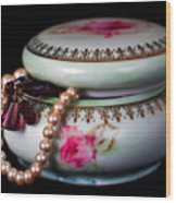 Pearls And Beads Wood Print