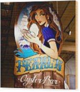 Pearls Oyster Bar Wood Print