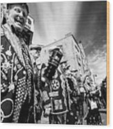Pearly Kings And Queens Of London Hoxton Brick Lane Wood Print