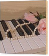 Pearly Pink Keys Wood Print