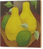 Pears And Apples  2006 Wood Print