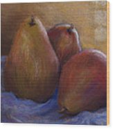 Pears In Natural Light Wood Print