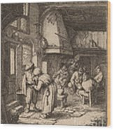 Peasant Settling His Debt Wood Print