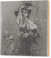Peasant Woman Of The Campagna [ciociara] Wood Print