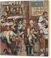 Peasants Paying Tithes By Pieter Bruegel I Wood Print