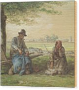 Peasants Resting Wood Print