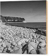 Pebble Beach At Flamborough. Wood Print