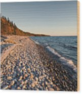 Pebble Beach Autumn    Wood Print