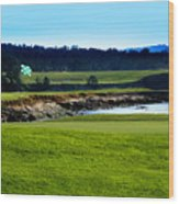 Pebble Beach Golf Links No 18 Wood Print by Lyle  Huisken