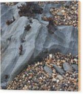 Pebble Beach Rocks 8715 Wood Print