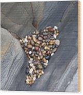 Pebble Beach Rocks 8778 Wood Print