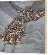 Pebble Beach Rocks 8787 Wood Print