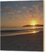 Pebble Beach Sunset Wood Print
