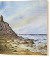 Pebble Beach Wood Print