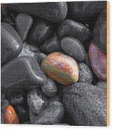 Pebble Jewels   Wood Print
