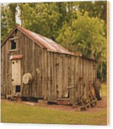 Cypress Shed Wood Print
