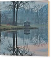 Pecks Pond Morning Wood Print