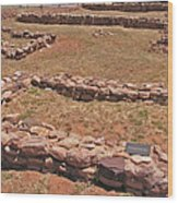 Pecos National Monument - 3 Wood Print